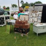 selection of antiques at Texas Pickers market